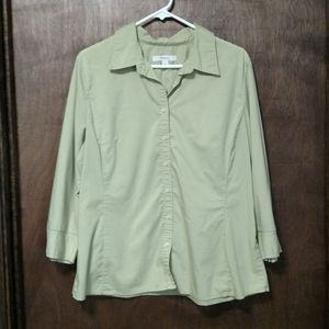 6 for $15/Green Button Down
